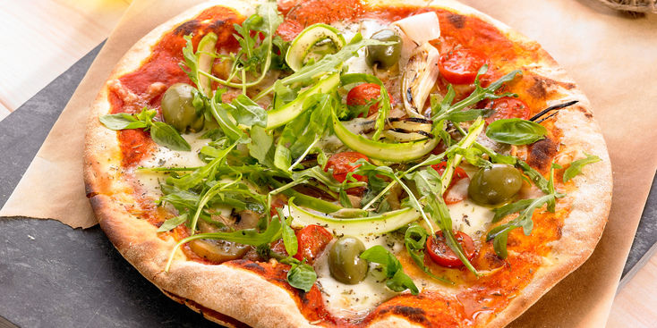 Pizza végétarienne au psyllium