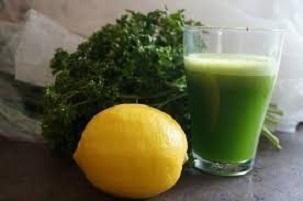 Cocktail diurétique persil – citron