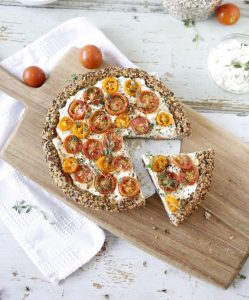 tarte fromage - tomate
