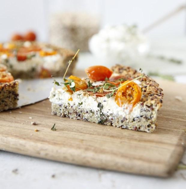 Tarte fromage – tomate au psyllium